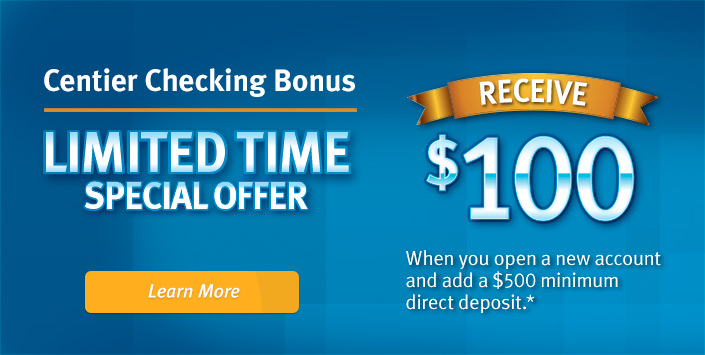 $100 Checking Bonus