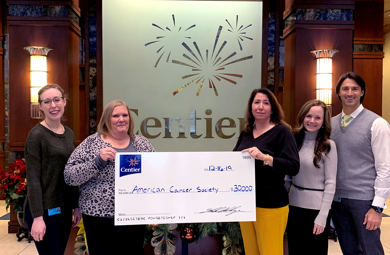 Centier Donates to American Cancer Society