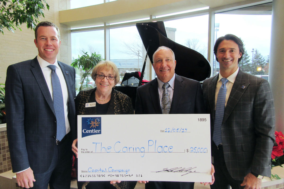 Centier Bank Donates to The Caring place