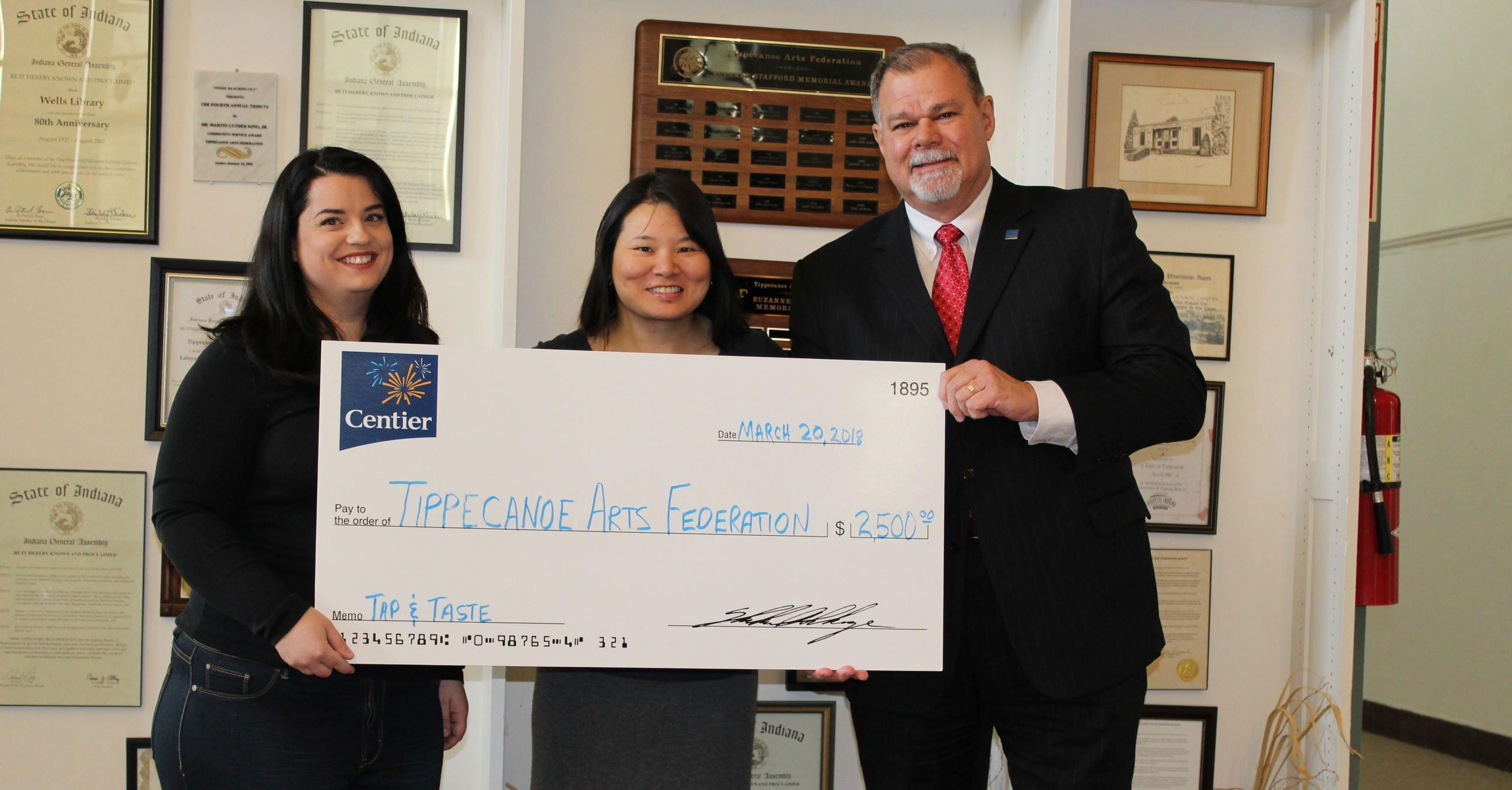 Centier Bank Supports Tippecanoe Arts Federation