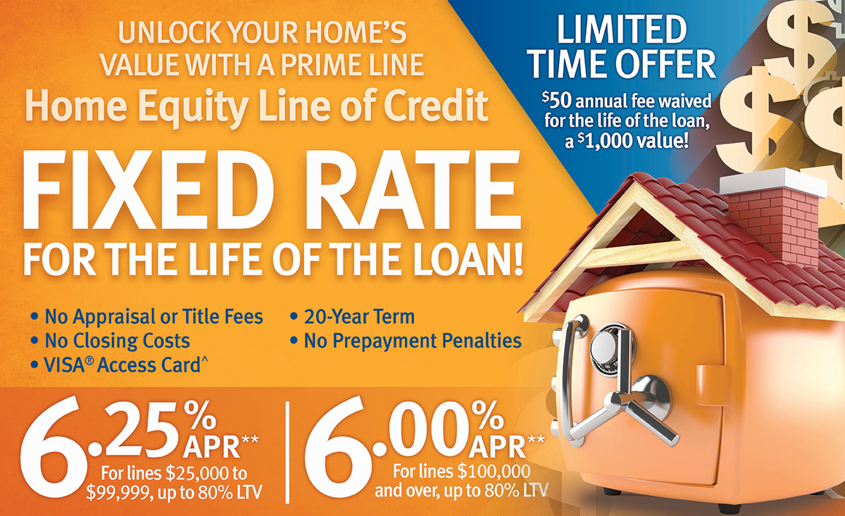 Centier Bank Prime Line Home Equity Line of Credit