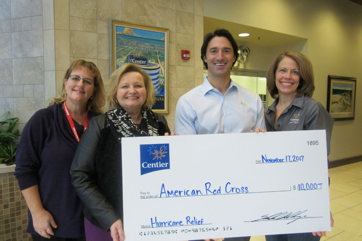 Centier Bank Associates Raise Funds for Hurricane Relief Efforts