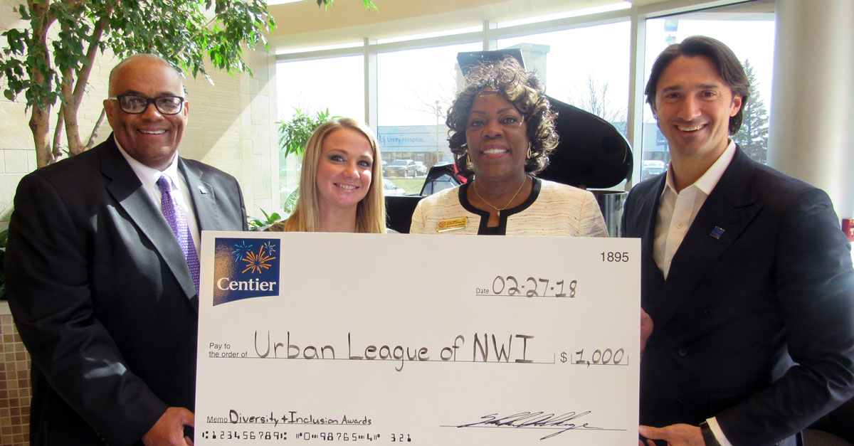 Centier Bank Supports Urban League of Northwest Indiana Diversity and Inclusion Luncheon with $1,000 Donation