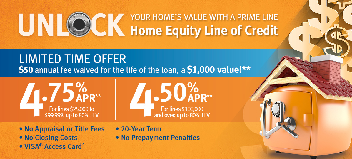 Prime Line Home Equity Line of Credit