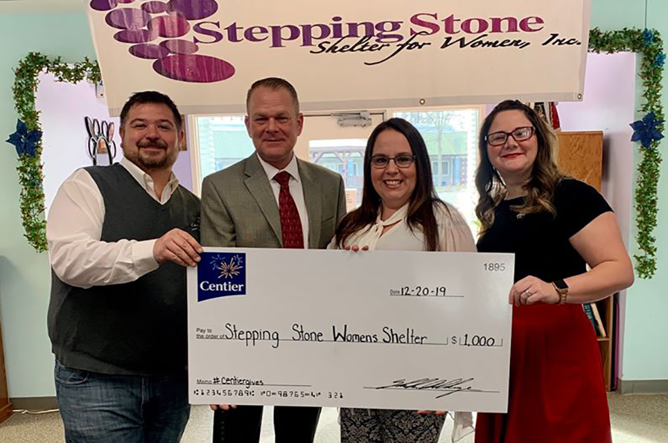 Centier Donates to Local Domestic Violence Shelter
